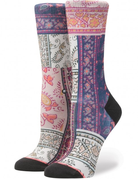 Stance Jasmine Crew Socks in Pink
