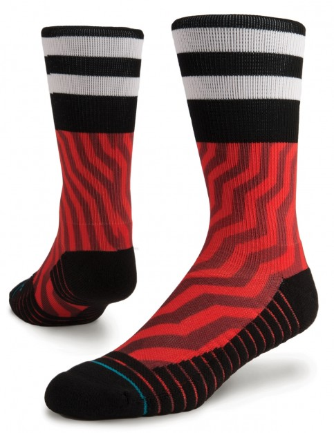 Stance Jord Crew Socks in Red