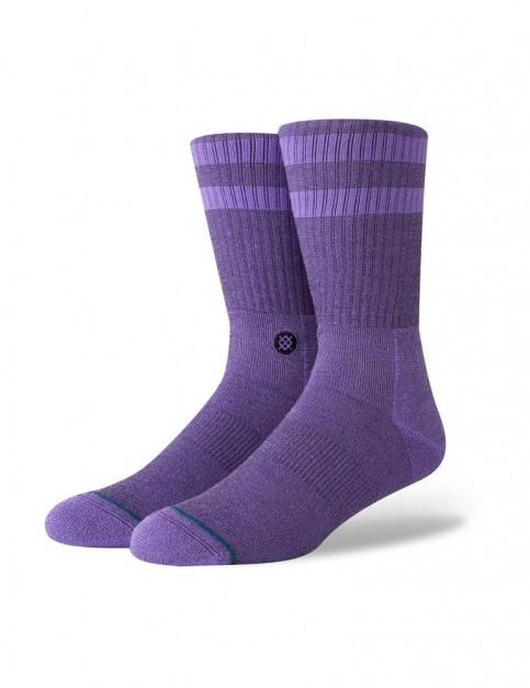 Stance Joven Crew Socks in Neon Purple