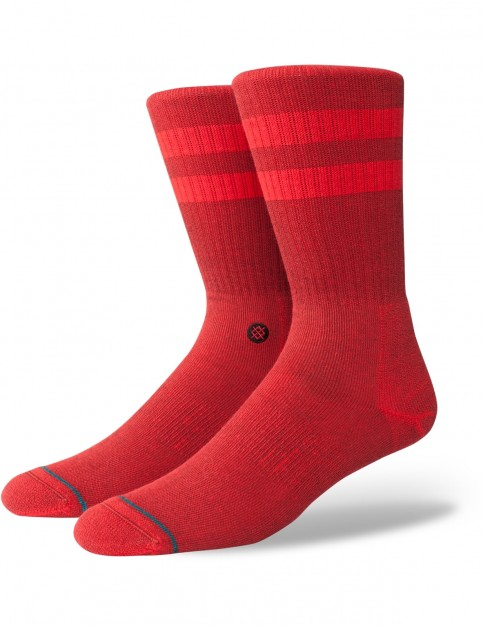 Stance Joven Crew Socks in Primary Red