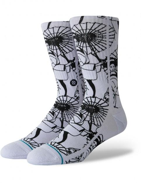 Stance Kimono Crew Socks in Violet