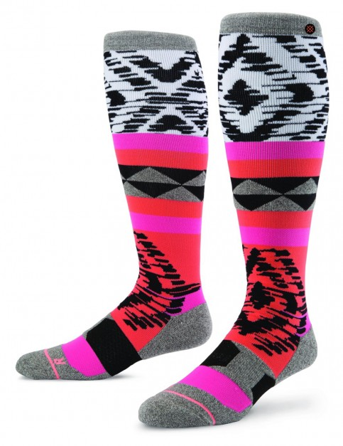 Stance Kora La Snow Socks in Coral