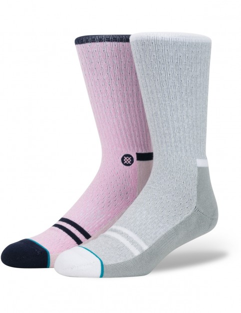 Stance Lance Crew Socks in Pink