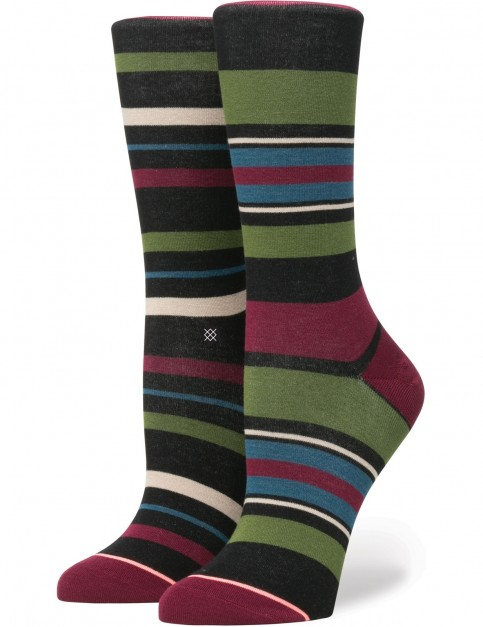Stance Latitude Crew Crew Socks in Black