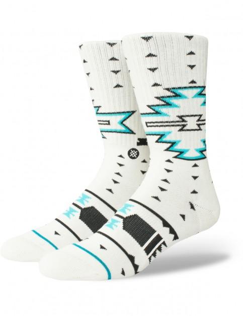Stance Leckey Crew Socks in White