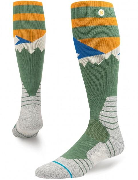 Stance Long Way Snow Socks in Green