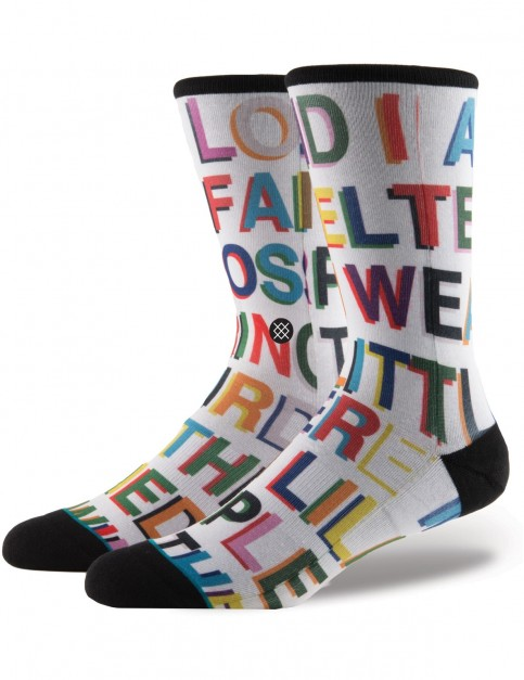 Stance Love Letters Crew Socks in Multi Colour