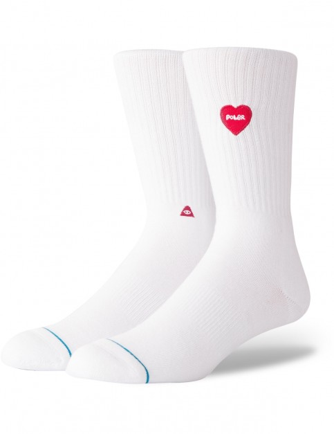 Stance Love Vibes Crew Socks in White