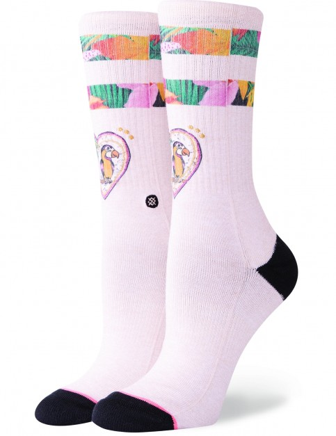 Stance Lovebird Crew Socks in Natural