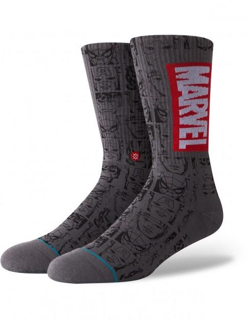 Stance Marvel Icons Crew Socks in Grey