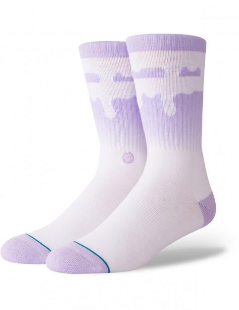 Stance Melt Down Crew Socks in Lavender