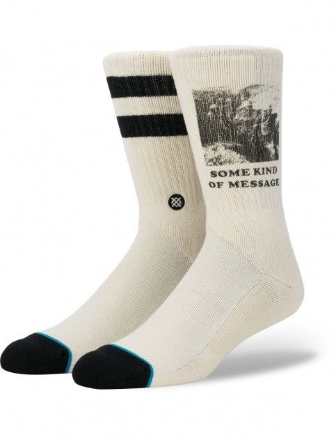 Stance Message Crew Socks in Natural