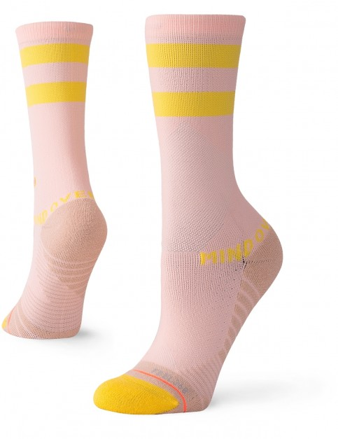 Stance Mind Over Matter Crew Crew Socks in Peach