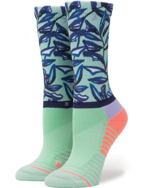 Stance Mint Tree Crew Crew Socks in Seafoam