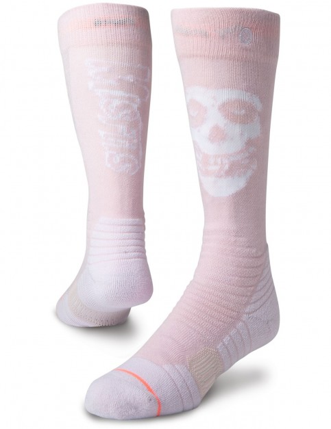 Stance Misfit Snow Socks in Pink