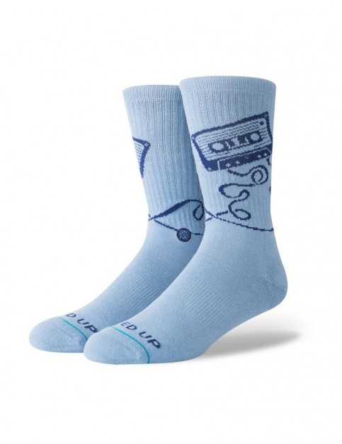 Stance Mixed Crew Socks in Blue