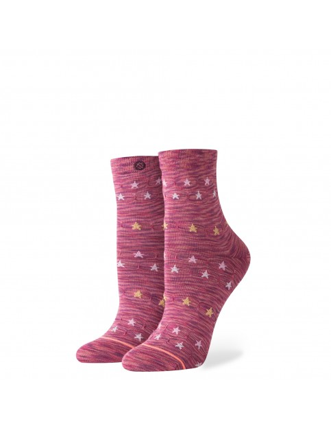 Stance Morning Star Ankle Socks in Maroon