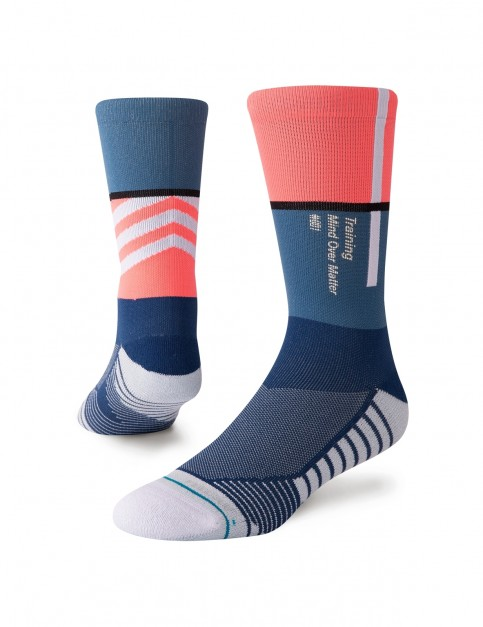 Stance Motto Crew Crew Socks in Blue