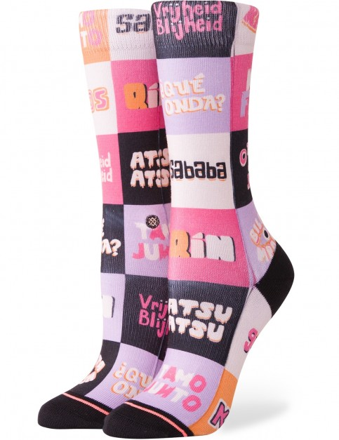Stance New Slang Crew Crew Socks in Multi