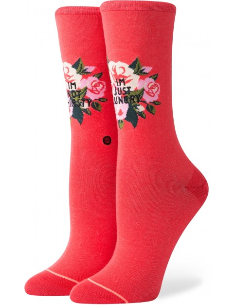 Stance Not Thirsty Crew Crew Socks in Red