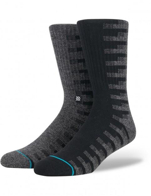 Stance Oak Crew Socks in Black