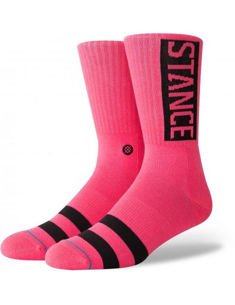 Stance Og Crew Socks in Neon Pink