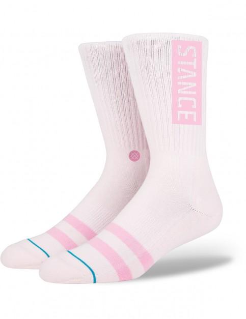 Stance OG Crew Socks in Pink