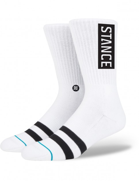 Stance OG Crew Socks in White