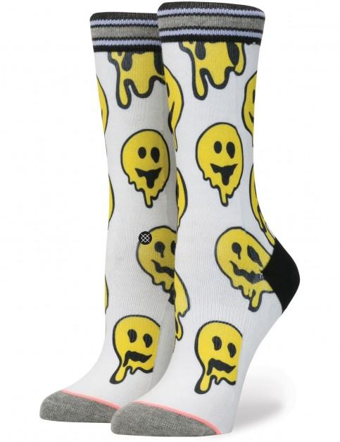 Stance Outbreak Crew Socks in White
