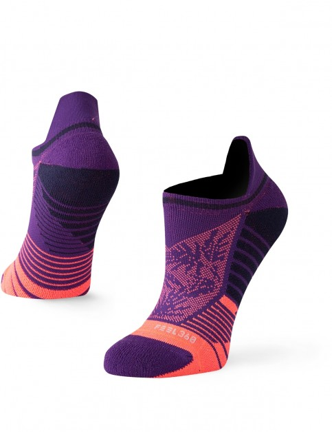 Stance Palm Tab No Show Socks in Purple