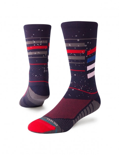 Stance Particles Crew Crew Socks in Navy