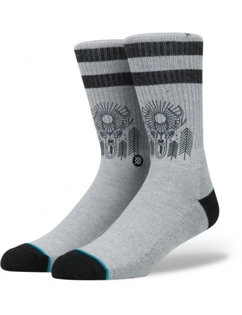 Stance Peaceful Socks in Grey