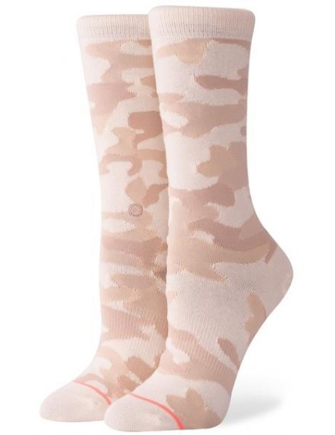 Stance Persevere Crew Socks in Sand