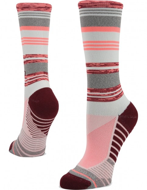Stance Plank Crew Socks in Pink