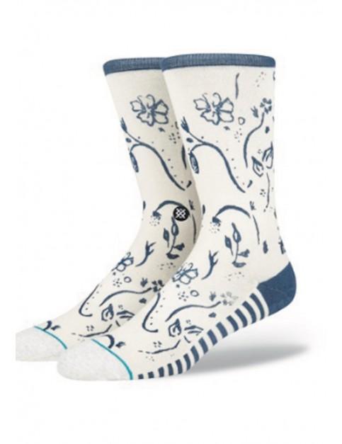 Stance Playa Dust Crew Socks in Natural