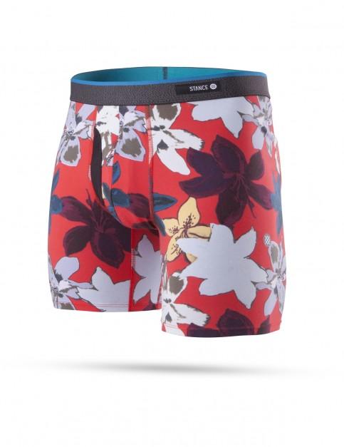 Stance Pop Floral Underwear in Red