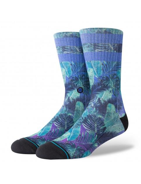 Stance Pop Palms Crew Socks in Blue