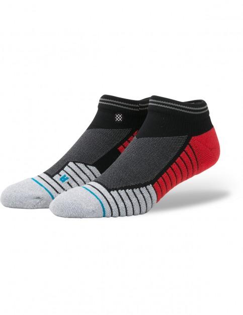 Stance Pressure Low Crew Socks in Black/Red