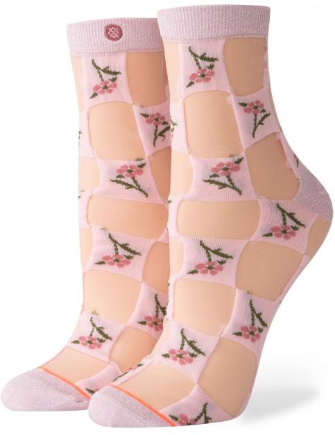Stance Primavera Ankle Socks in Rose Smoke
