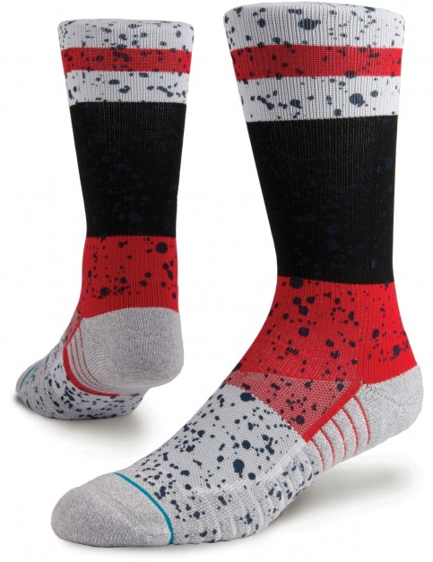 Stance Rain Crew Socks in Red