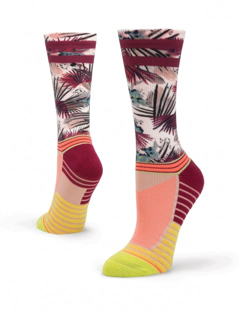 Stance Record Crew Crew Socks in Lime