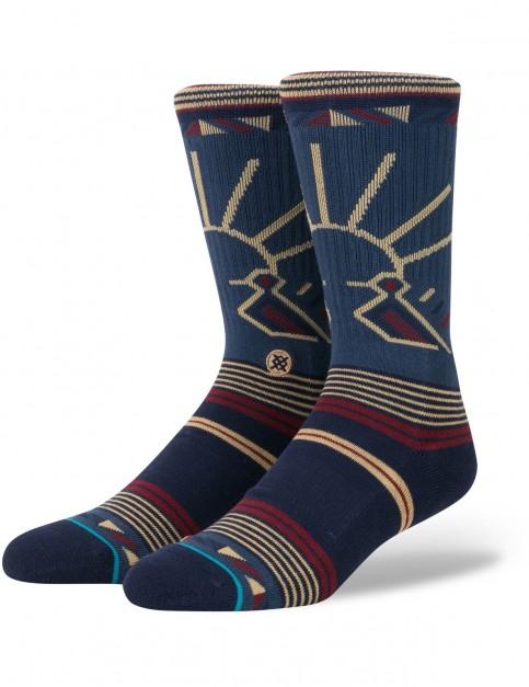 Stance Riser Crew Socks in Blue