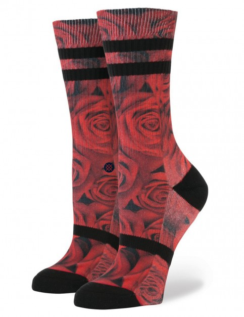 Stance Romance Socks in Red