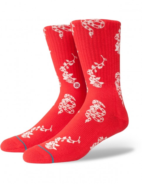 Stance Rossa Crew Socks in Red