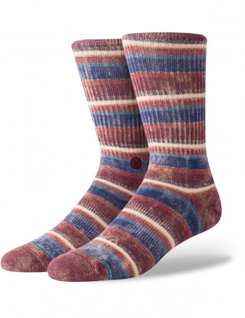 Stance Sarthe Crew Socks in Maroon