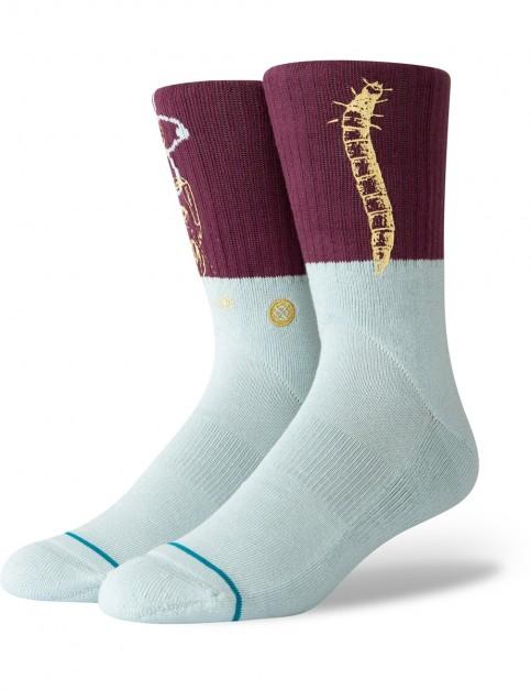 Stance Science Crew Socks in Maroon