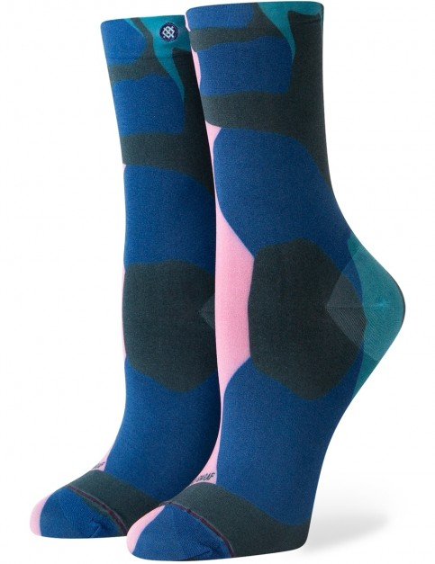 Stance Send Color Therapy Crew Socks in Blue