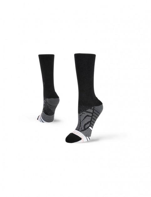 Stance Shiny Black Crew Crew Socks in Black