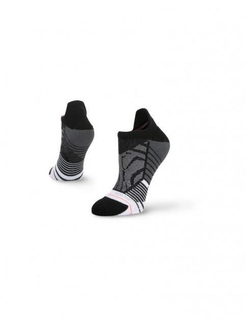 Stance Shiny Zebra Tab No Show Socks in Black