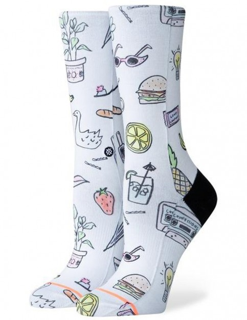 Stance Shopping List Crew Socks in White